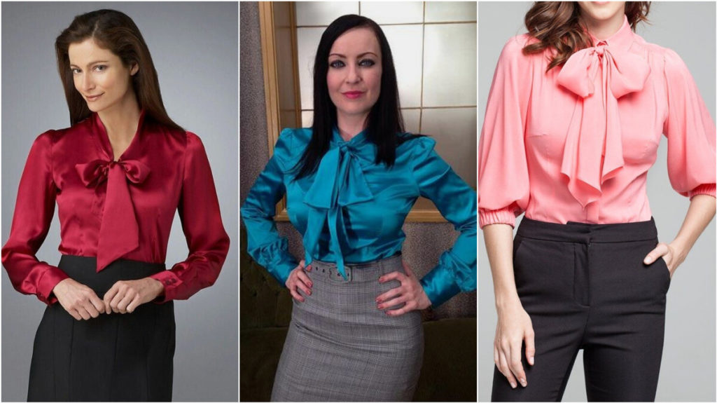 Как завязать бант на блузке? 1