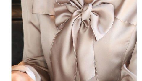 Как завязать бант на блузке