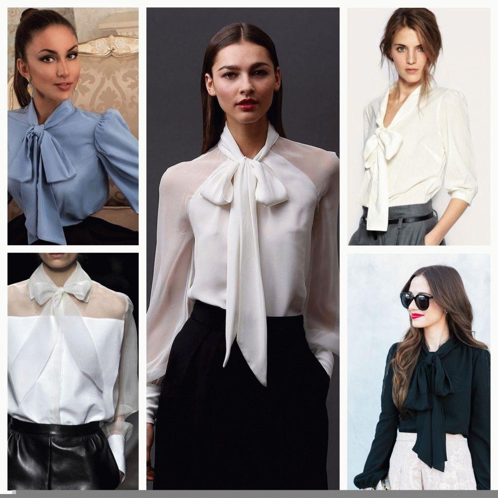 Как завязать бант на блузке?