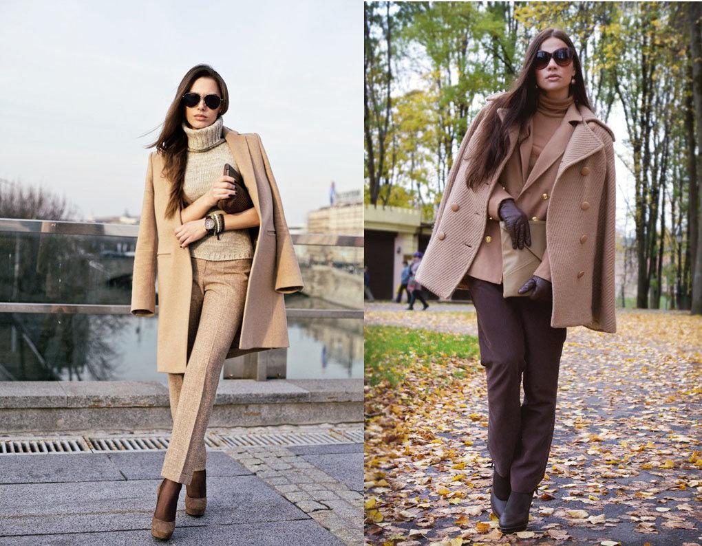 С чем носить женское пальто