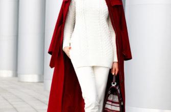 С чем носить женское бордовое пальто