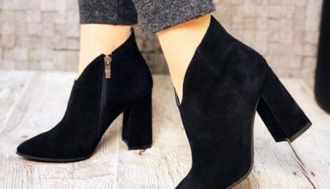 Ботильоны на широком каблуке — модно и удобно
