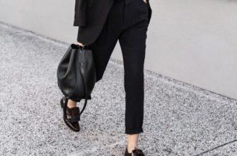 Брюки чёрного цвета — то, что никогда не выйдет из моды