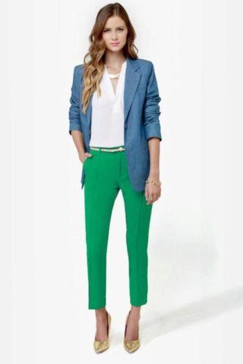Зелёный и синий