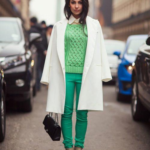 С чем носить зелёные брюки?