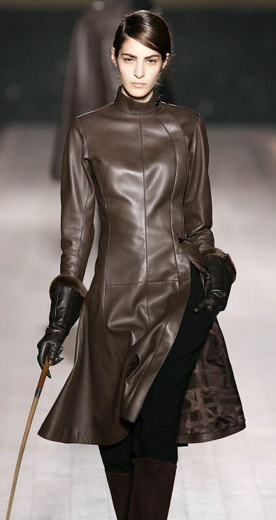 Платья и пальто из кожи 2