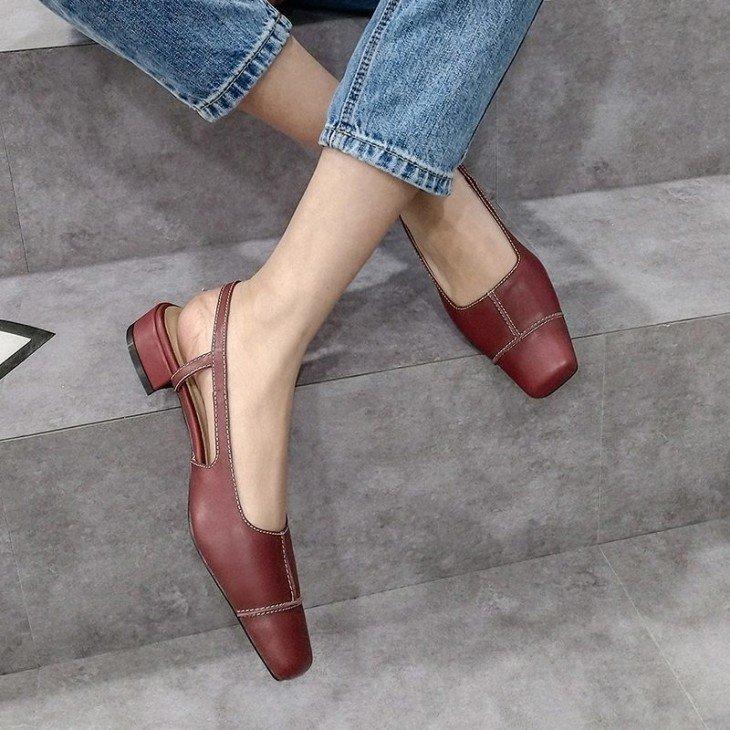 Квадратный мыс на обуви 3