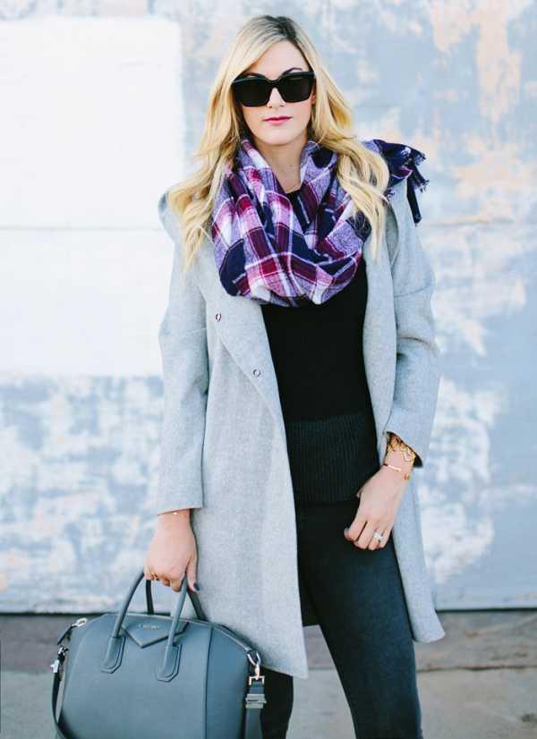 Пальто с капюшоном и шарф: можно ли совместить? н