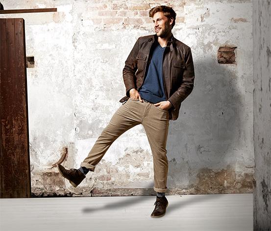 мужские вельветовые брюки с джемпером
