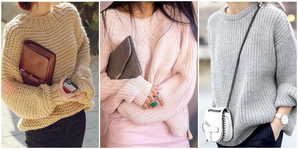 Как правильно носить объёмные свитера? 1