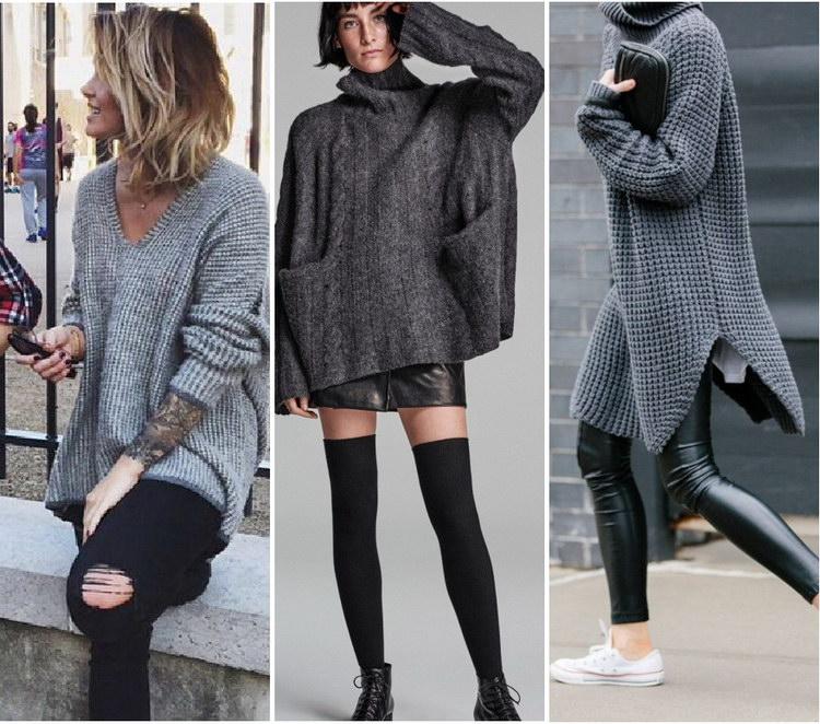 Как правильно носить объёмные свитера? 3