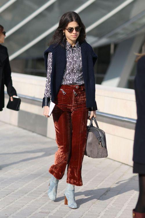 вельветовые брюки с полуботинками