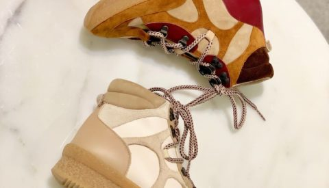 Идеи с чем носить высокие кроссовки
