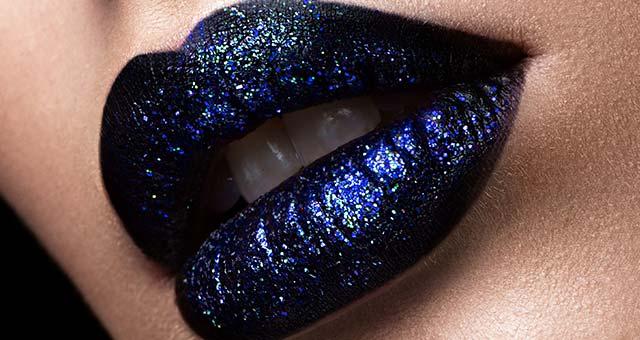 """макияж губ """"звёздное небо"""""""