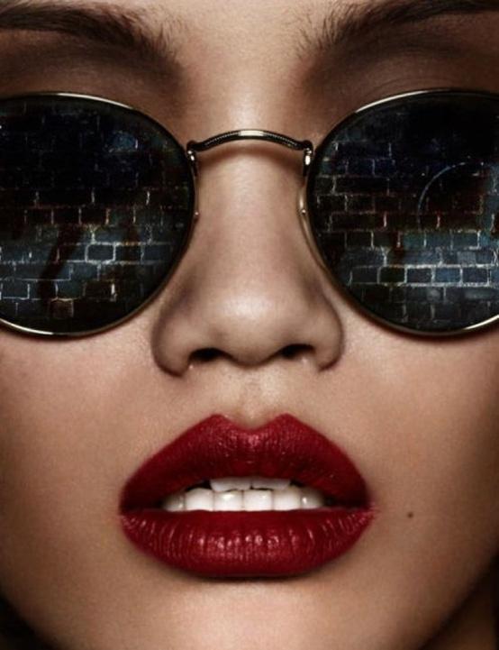 оригинальный макияж губ