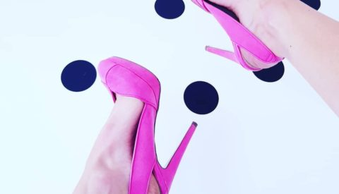 Удачные сочетания с розовыми туфлями