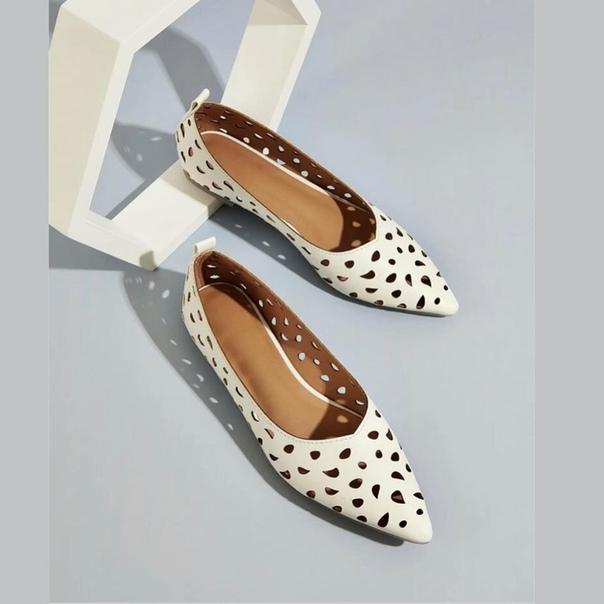 белые туфли без каблука
