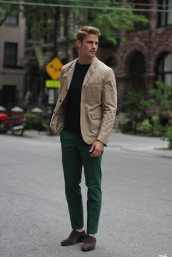 туфли в повседневном образе мужчины