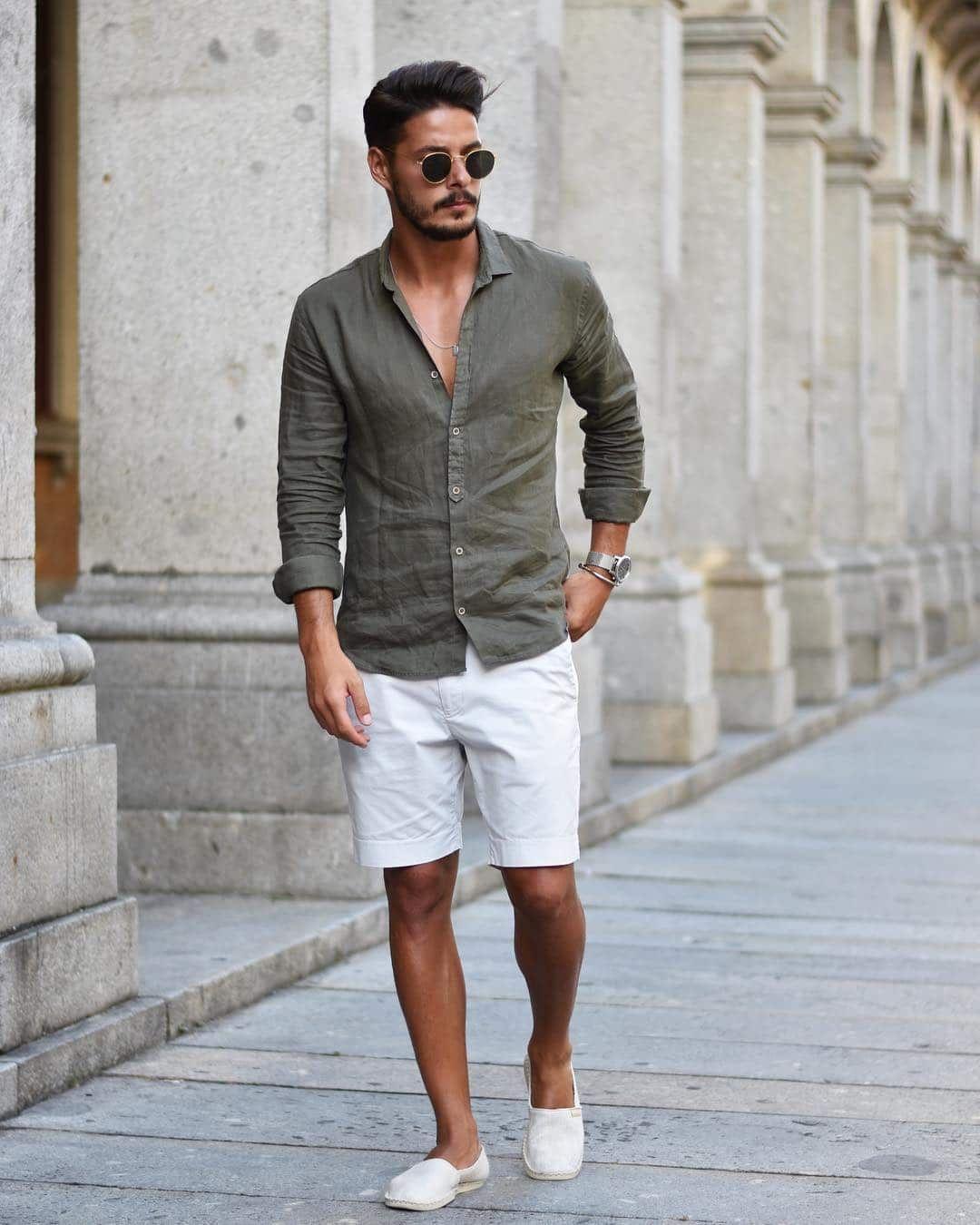 мужской образ с белыми туфлями