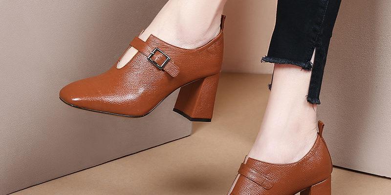 Коричневые женские туфли — с чем носить