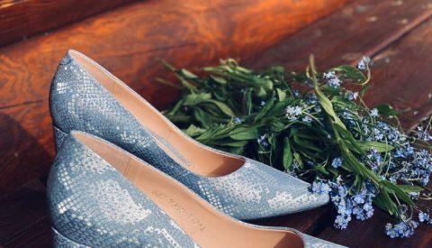 Варианты сочетаний с голубыми туфлями