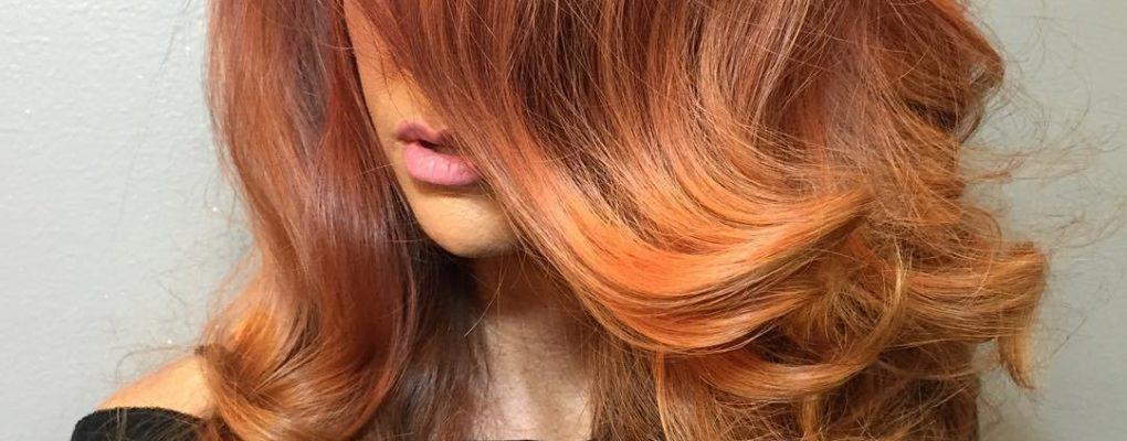 Варианты мелирования для рыжих волос
