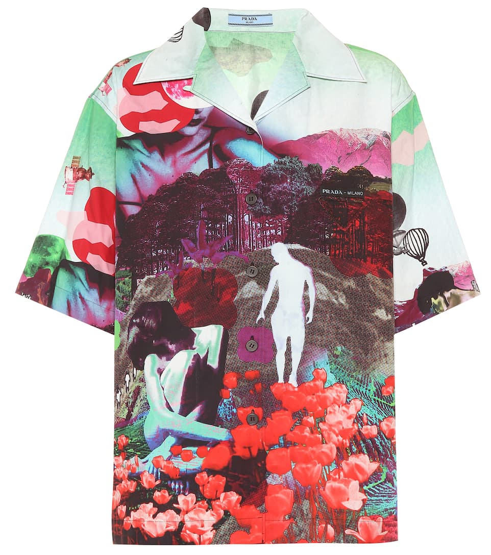 Замысловатая рубашка от Prada