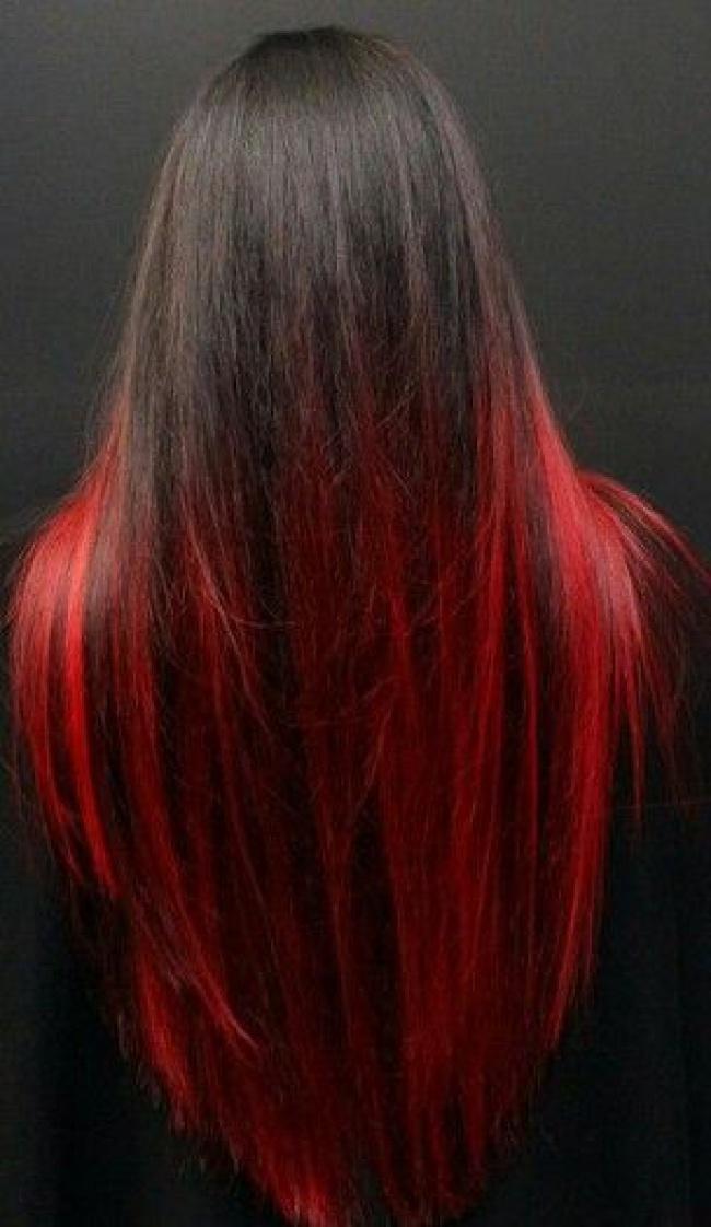 мелирование на волосы черного цвета