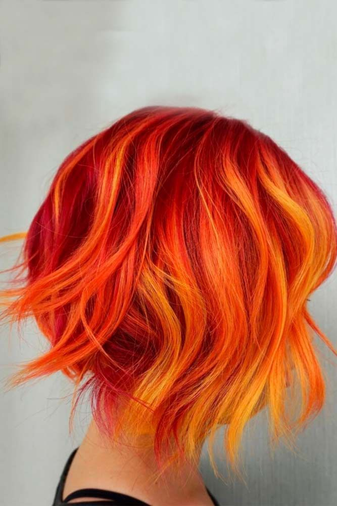 для рыжих волос