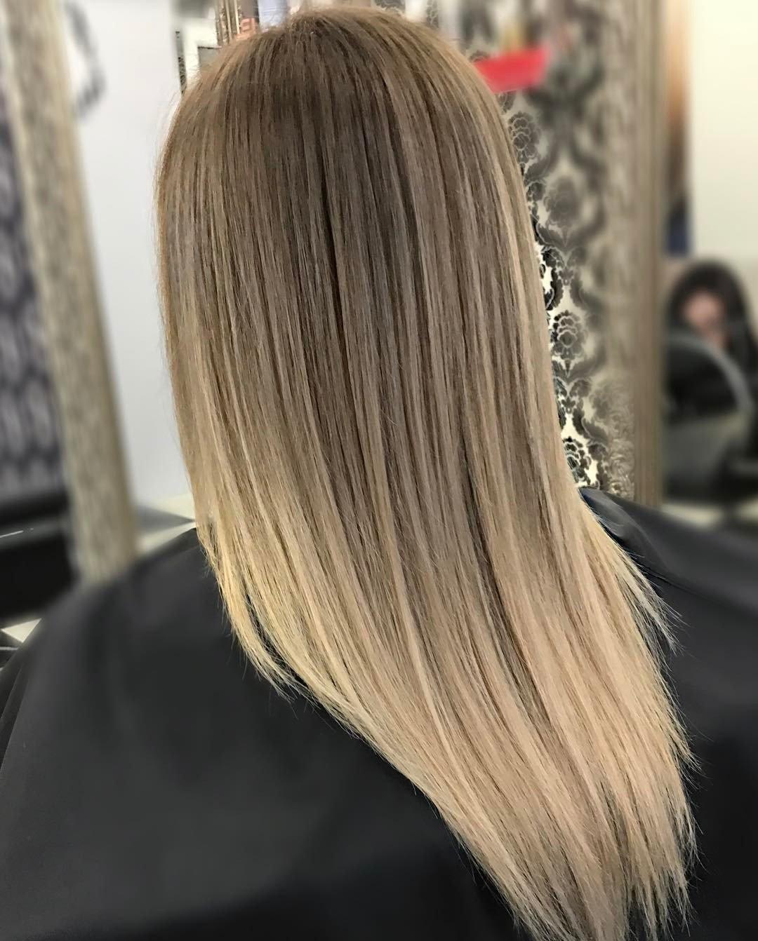 русые волосы и балаяж