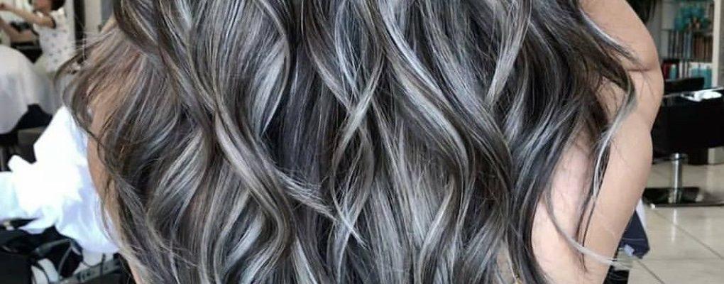 Мелирование на чёрные волосы