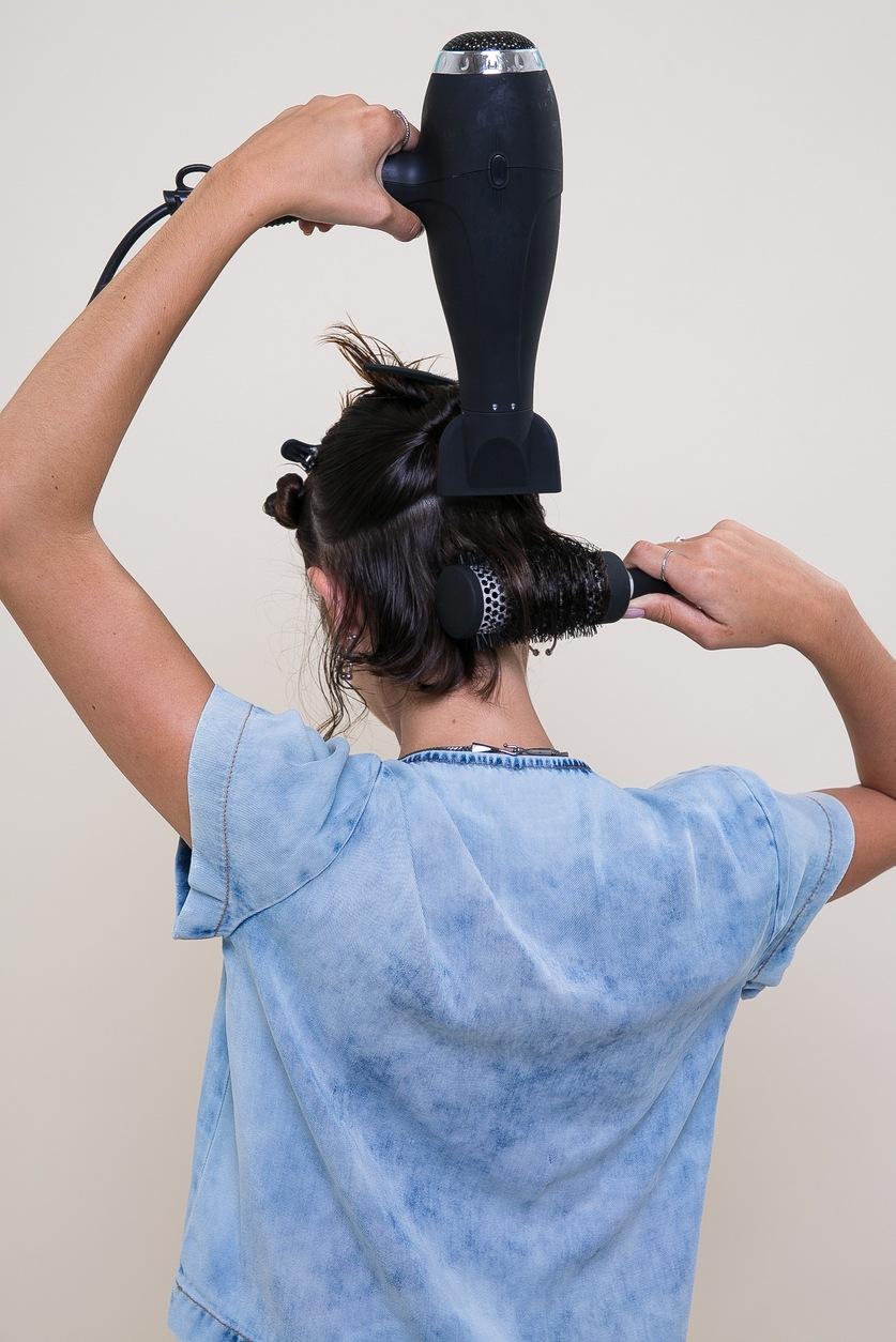 кудри брашем на короткие волосы