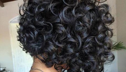 кудри на коротких волосах
