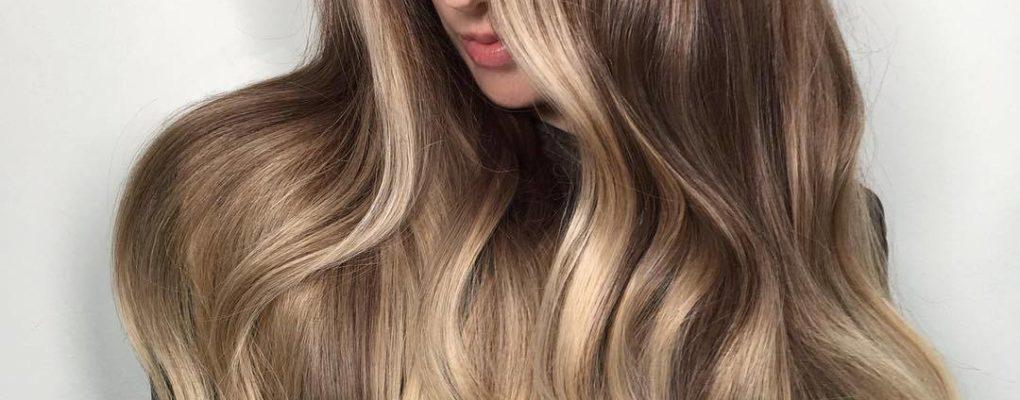Балаяж на русые волосы