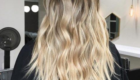 балаяж на длинные волосы