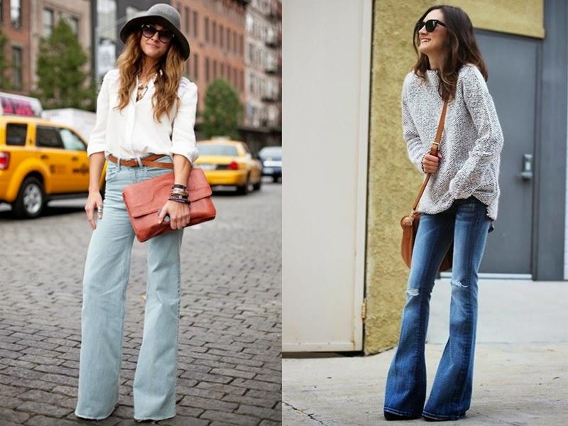 С чем носить джинсы клеш в 2021 году